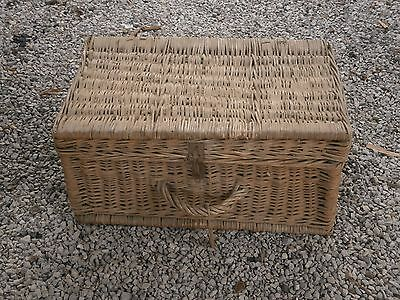 Antique Vintage Knit Wooden Suitcase Box