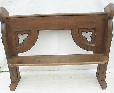 A Victorian Oak Church Pew