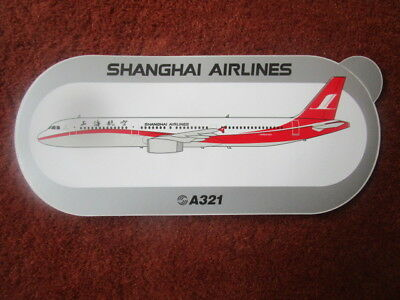 Autocollant Sticker Aufkleber Airbus A321 Shanghai Airlines China Chine