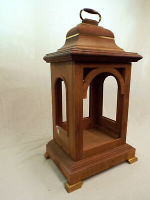 Large mahogany bracket / mantle clock case only