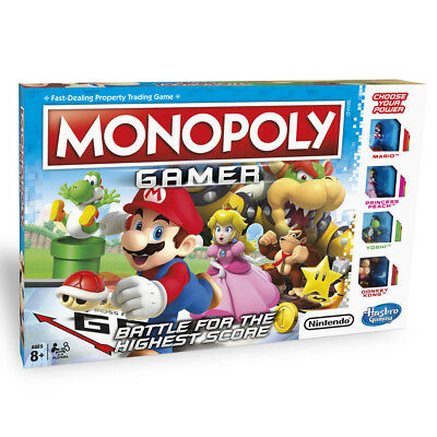 Hasbro Monopoly Gamer with Nintendo's Super Mario Characters NEW