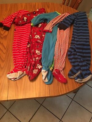 Lot of 5  24 month footed baby boy sleeper.