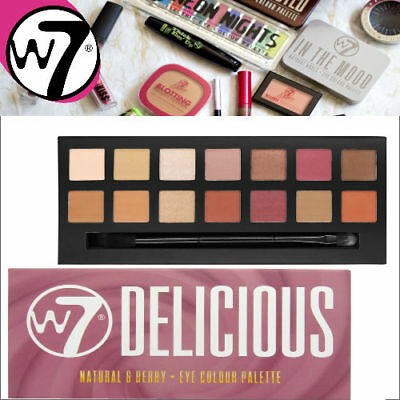 W7 New! W7  Delicious Eye Shadow Palette Berry & Naturals 14 Shades