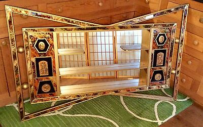 Mid Century Modern/ Hollywood Regency Mirrored Shadow Box Wall Display~RARE~EUC