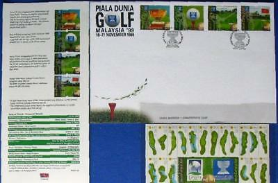 s120) Malaysia Gulf sheet folder+ calendar ** Golf Block 33 im Folder KW 350 € +