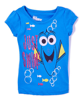 Disney Toddler Girls Tee Short Sleeve Top Dory Fish Size 2T 3T 4T New With Tags