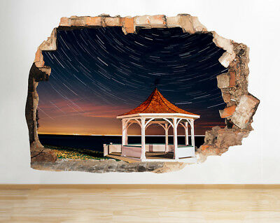 Wall Stickers Star Sky Band Stand Bedroom Smashed Decal 3D Art Vinyl Room D424