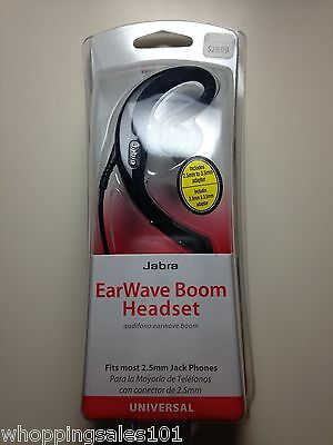NIB Wholesale Lot 10x Verizon Jabra C500 EarWave Boom Headset 2.5mm 3.5mm Black