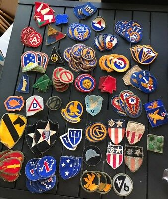Lot of 550 + WWII and More Military Patches U.S. American Vintage WW 2