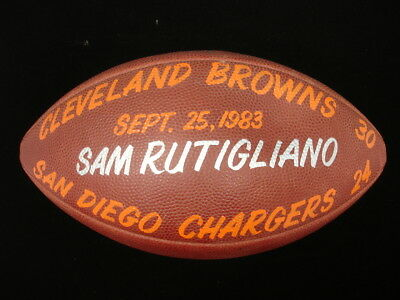 September 25, 1983 Cleveland Browns vs. San Diego Chargers Game Used Football