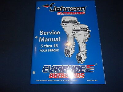 Omc Johnson Evinrude 1998 5 10 15 Hp Outboard Engine Service Shop Repair Manual