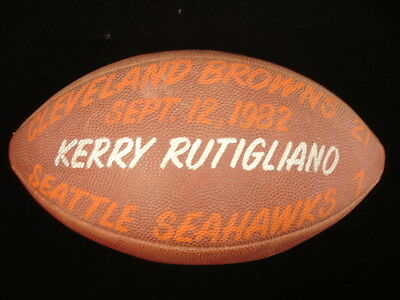 September 25, 1982 Cleveland Browns vs. Seattle Seahawks Game Used Football