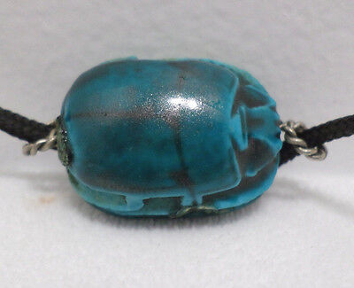 Egyptian Scarab Bracelet Turquoise color