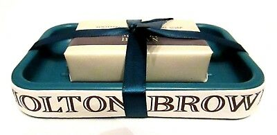 MOLTON BROWN SOOTHING OATMEAL MILK  SOAP & SOAP DISH GIFTSET  (P81) Teal