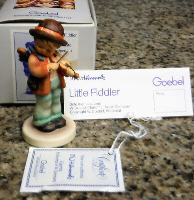M.J. Hummel ~ Little Fiddler ~ Goebel W. Germany Porcelain Figurine