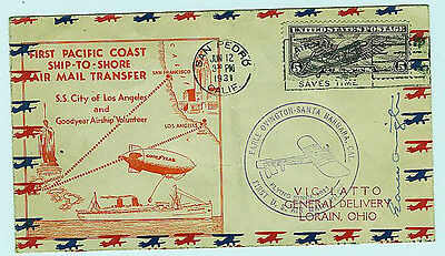 OVINGTON EARLE sgn 1931 SHIP to  SHORE AIRMAIL TRF GOODYEAR AIRSHIP