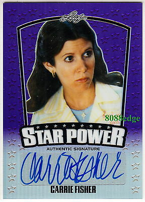 "2015 Pop Century Star Power Auto: Carrie Fisher #5/15 Autograph ""force Awakens"""