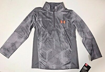 NWT Under Armour Little Boys' 1/4 Zip Long Sleeve Top, Graphite, Size  5