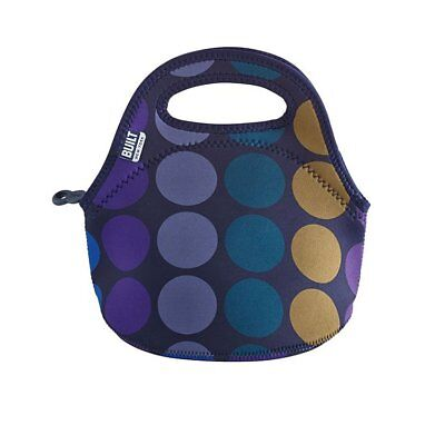 NEW BUILT NY Gourmet Getaway Mini Lunch Tote Plum Dot (RRP $35)