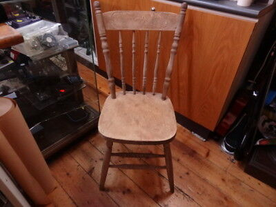 Antique Australian Pressed Kangaroo Back Kitchen Chair circa 1900