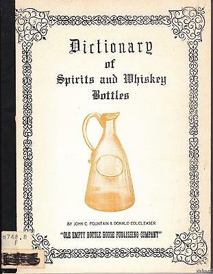 1971 Dictionary of Spirits and Whiskey Bottles over 900 Illustrations OOP!!
