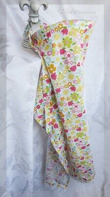 NEW Boutique Nursing Cover Bright Kiddie Flowers with White Lace
