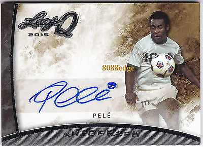 2015 Leaf Q On Card Auto: Pele #a-P1 Autograph Brazil Greatest Soccer Player