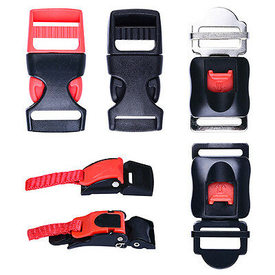 Motorcycle Bike ATV Helmet Chin Strap Speed Clip 3Pc Quick Release Buckle