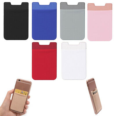 Adhesive Sticker ID Card Holder Back Cards Wallet Credit Mobile Phone Pocket New