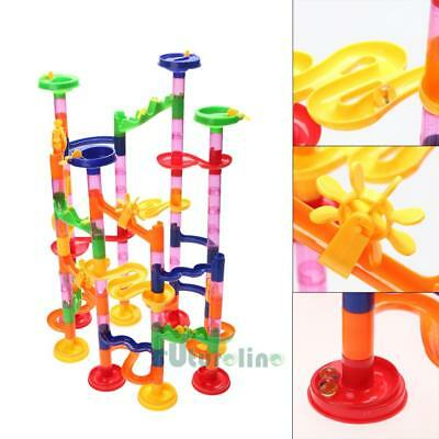 DIY 105pcs Water Pipe Building Blocks Kids Baby Ball Race Track Maze Puzzl Toy