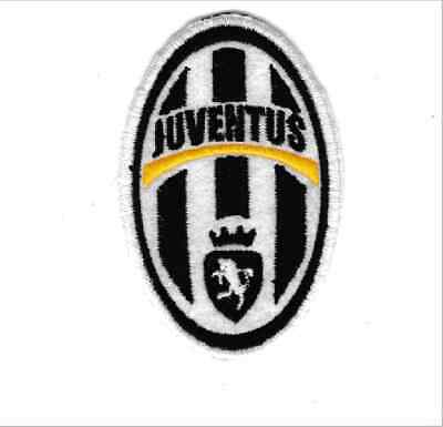 [Patch] JUVENTUS football club stemma vintage cm 5 x 8 toppa ricamo REPLICA -739