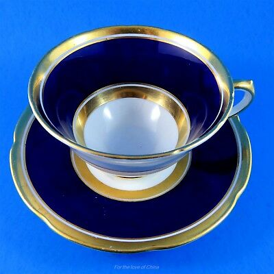 Cobalt Blue and Gold Border Collingwoods Tea Cup and Saucer Set