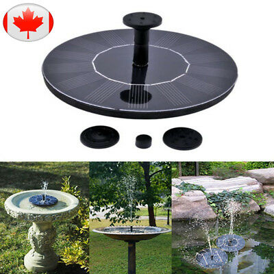 Floating Solar Powered Garden 160L/H Water Pump Fountain Pond Watering Kit 7V
