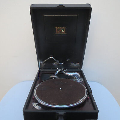 HMV, His Master's Voice Portable Picnic Gramophone, Wind Up 78 Record Player