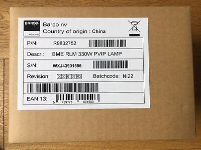 BARCO RLM-W8 Spare lamp, R9832752
