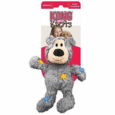 KONG Wild Knots Bear X Large Plush Heavy Duty Squeaky Dog Toy Teddy With Rope