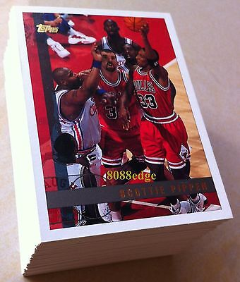 1997-98 Topps Series 1 Complete 110 Cards Base Set - Pippen/Barkley/Shaq/Kidd