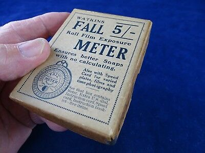 """Rare Complete Original 1930s Boxed Watkins """"Fall"""" Meter, Lovely Condition"""