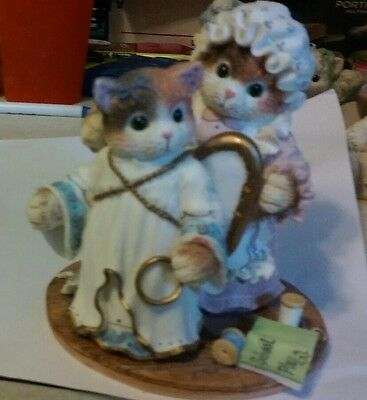 "CALICO KITTENS ""You've Earned Your Wings"" LIMITED EDITION Patricia Hillman 1996"