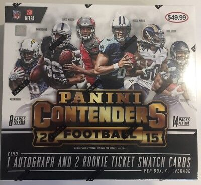 2015 Panini Contenders NFL Football 14-Pack Box - New & Sealed