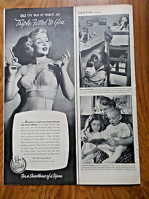 1952 Life Formfit Bra Girdle Ad  Triple Fitted to You