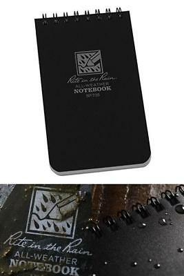Waterproof Notebook All Weather Shower Pocket Tactical Notepad Spiral with Cover