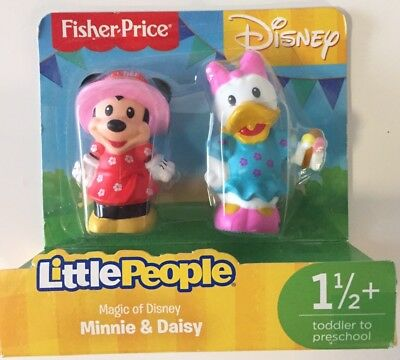 NEW Fisher-Price Little People Magic Of Disney Minnie & Daisy 2-Pack