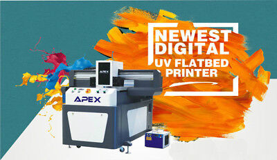 NEW Digital APEX UV Flatbed Printer UV7110 Certified ink by TOSHIBA