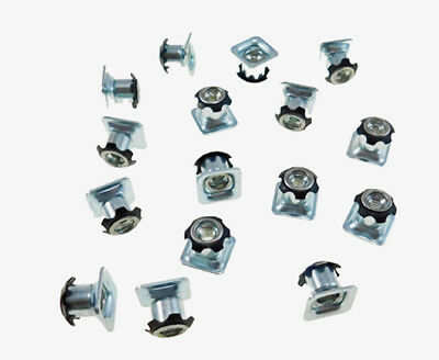 "16 Pack Threaded Star Type 3/4""(OD) Square Tubing Insert 1/4-20 Threads  S71-244"