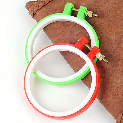 """Plastic Embroidery Cross Stitch Tapestry Ring Hoop Frame 8"""" to 25"""" (9-27cm)"""