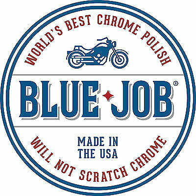 Motorcycle Chrome & Stainless Steel Polish Removes Exhaust Blues Blue Job