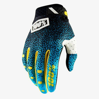 2018 100% RIDEFIT MOTOCROSS MX BIKE GLOVES CYAN / BLACK mtb
