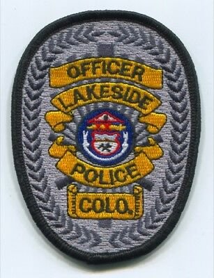 Lakeside Police Department Officer Patch Colorado CO SKUB3