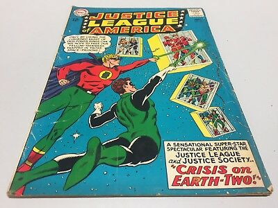 Justice League of America #22! DC Comics - 1963! Crisis on Earth-Two! JSA! 3.5